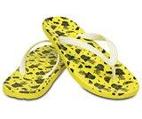 男士女士彩威夷水果人字平底沙滩凉拖鞋