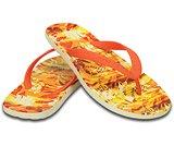 男士女士彩威夷热带风情人字拖二代平底沙滩凉拖鞋