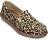 女士沃尔卢帆布豹纹休闲平底帆布便鞋