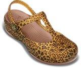 女士豹纹卡丽玛丽珍休闲凉鞋